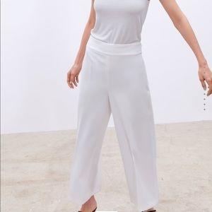 Zara NEW flowy cropped pants